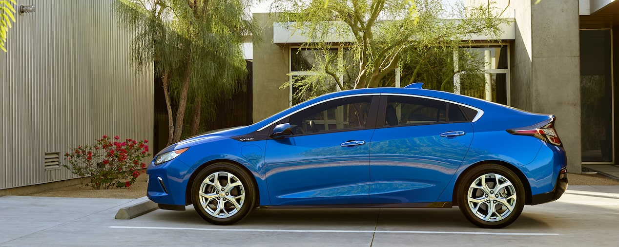 A variety of elecrtic and hybrid vehicles from Chevrolet