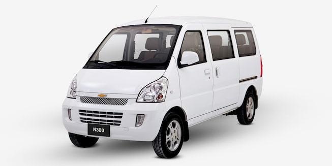 Chevrolet N300 Pasajeros - Ángulo frontal de tu van de pasajeros